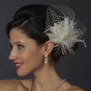 Rhinestone Bridal Feather Fascinator Elegant Bridal Hair