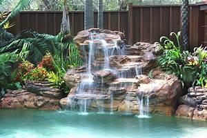 Piscine Avec Cascade : cascades et murs d 39 eau pour une piscine paradis ~ Premium-room.com Idées de Décoration