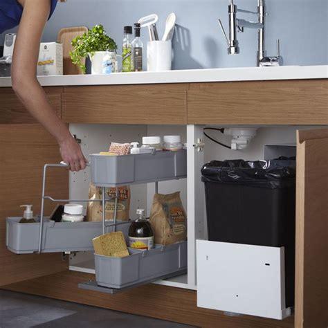 castorama accessoires cuisine rangement sous évier cleaning 49 90 castorama cuisine rangement sous