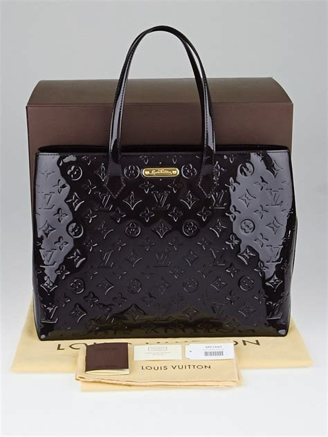 louis vuitton terre dombre monogram vernis wilshire mm