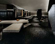 Black Color House Unusual Interior Futuristic Black Bar Interior Design