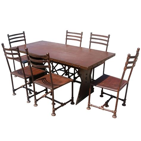 72 quot industrial machine age steel dining table ebay