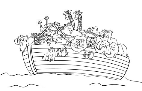 sunday school noahs ark bible coloring pages