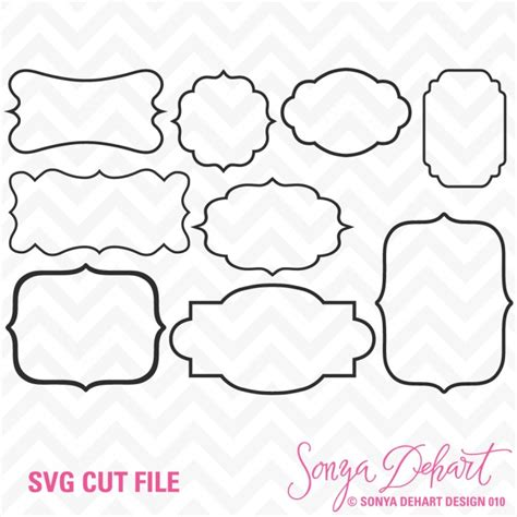 1,077 free images of svg. Pretty Frames SVG Cuttables