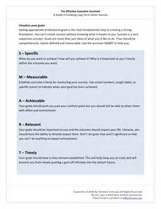 smart objectives for administrative assistant exles the effectiveexecutiveassistant