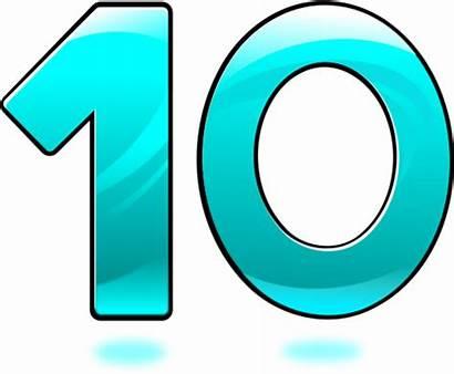 Number Ten Clip Cliparts Clipart Perfect Vector