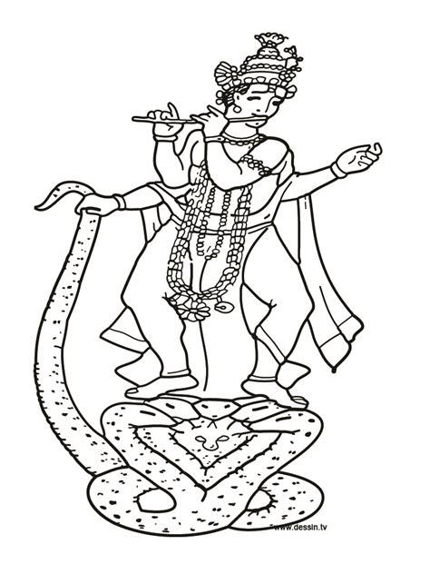 coloring krishna