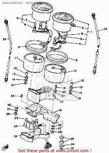 Yamaha Rd400 1978 Usa Speedometer - Tachometer