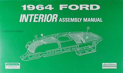 car repair manuals online pdf 1964 ford galaxie security system 1964 ford galaxie 500 body assembly manual reprint