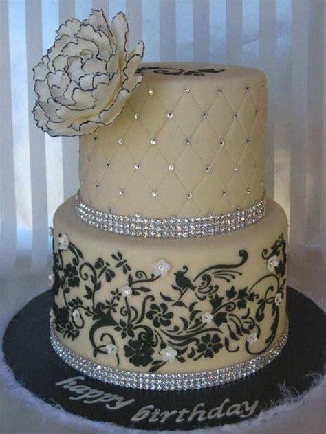 White & Black Double Layer Cake  Recipes Cakes