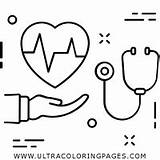 Stethoscope Coloring Getcolorings Pages Printable Getdrawings sketch template