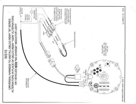 delco internal regulator alternator wiring diagram