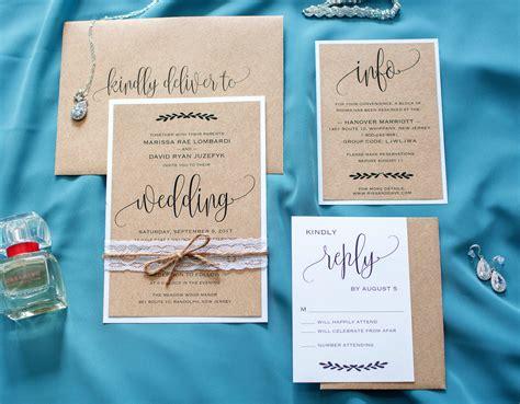 my diy story rustic straw kraft wedding invitation