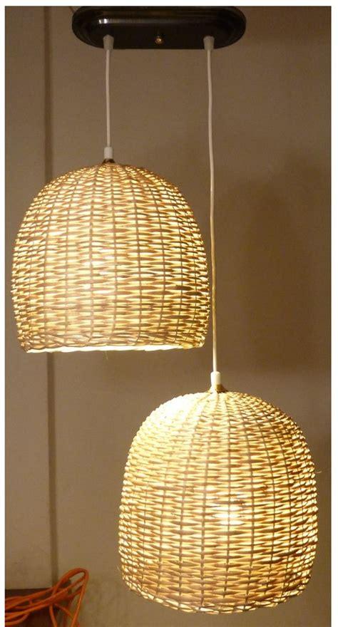 lamparas de mimbre duojpg  cesteria
