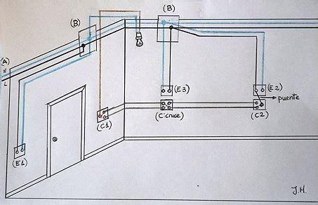 esquema circuito el 233 ctrico de un dormitorio de matrimonio construcci 243 n cableado