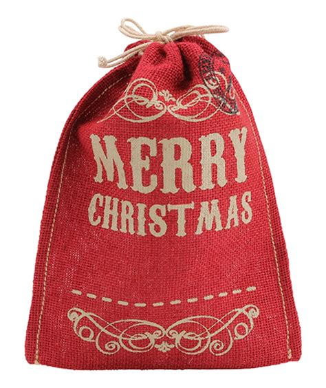 merry christmas hessian gift bag at mighty ape australia