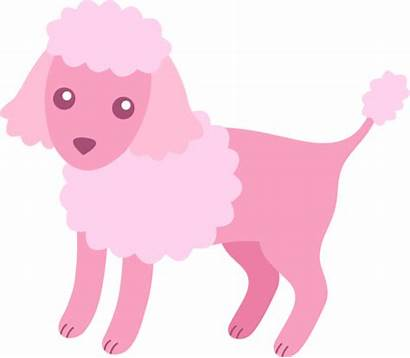 Poodle Clip Fluffy Clipart Silhouette Skirt Dog