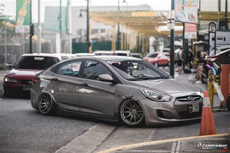 stanced hyundai accent side