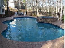 Custom Gunite Pool with spa from Calypso Pool Services in