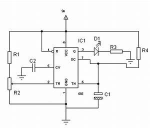 duvindu blogs using electronic components 1 555 timer With led 1 connected to pin 2 led 2 to pin 3 led 3 to pin 4 the r1 r2 r3
