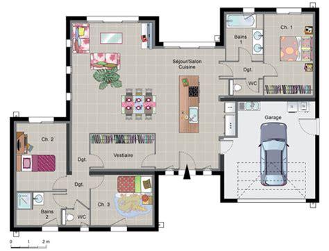 plan de maison moderne avec piscine maison contemporaine de plain pied d 233 du plan de maison contemporaine de plain pied