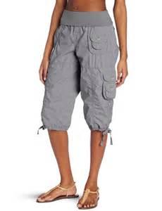 Plus Size Cargo Capri Pants for Women