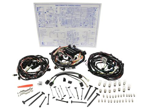 1978 Corvette Wiring Harnes Kit by 66 Wire Harness Kit All Deluxe Corvette Central