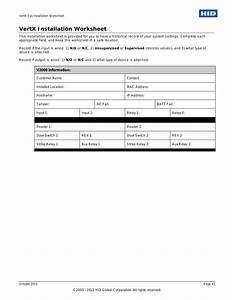 Vertx Installation Worksheet