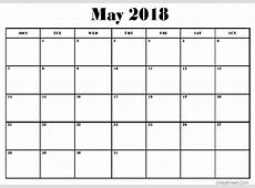 May 2018 Calendar Google Sheets Templates CalendarBuzz
