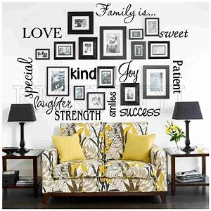 Vinyl lettering family is sticky word quote wall art ebay for Vinyl lettering for walls family