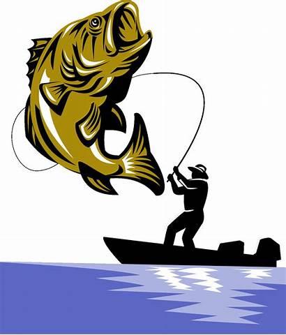 Bass Fish Fishing Clipart Boat Largemouth Mouth