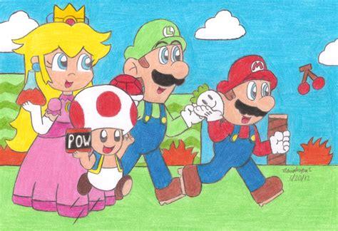Kaos Mario Bros Mario Artworks 15 mario bros 2 usa by mariosimpson1 on deviantart