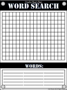 blank word search blank word search template word search grid word search and vocabulary words