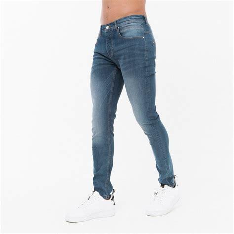 born rich blue slim fit jeans clothing   menswear uk
