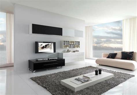 interiores minimalistas  habitaciones en blanco  negro