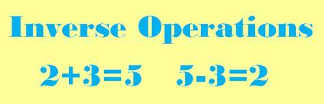 bureau inversé math worksheets for inverse operations inverse