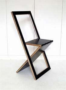 Chaise De Bar Pliable : chaise pliable design woodmood noir woddmon menuiserie creative mathieu camillieri 160 ~ Nature-et-papiers.com Idées de Décoration