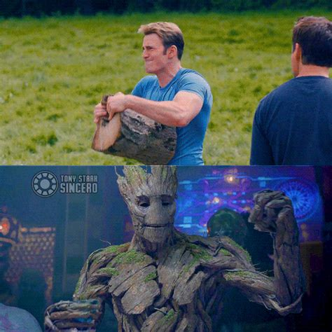 cap  groot marvel cinematic universe   meme