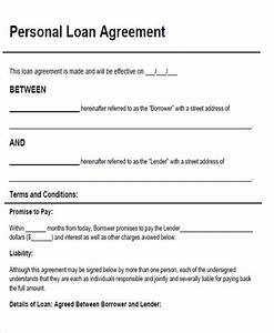 agreement form sample With personal loan document pdf