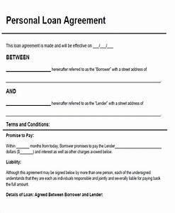 loan template agreement venturecapitalupdatecom With personal loan document sample