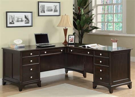 garson home office  shaped desk  coaster