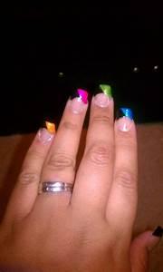 acrylic nails rainbow tip m 39 s
