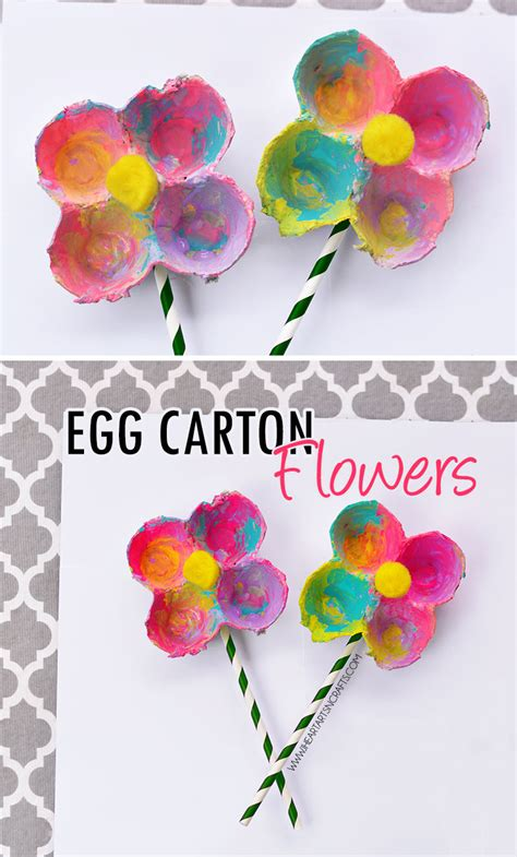 egg flowers i arts n crafts 536 | EggCartonFlowers6