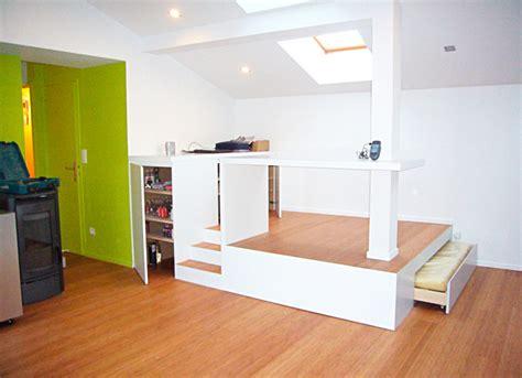 chambre avec estrade revger com fabriquer une estrade pour glisser un lit
