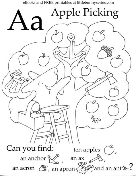letter a seek and find pdf fine motor writing letters