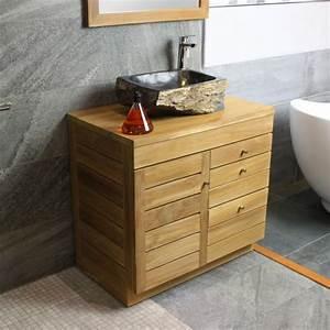 Meuble Sous Vasque 80 Cm : meuble sous vasque en teck 80 cm 18 712 ~ Nature-et-papiers.com Idées de Décoration