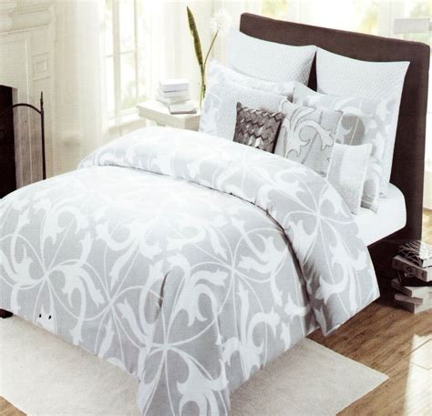 Comforter And Duvet Cover Set by Tahari Home 3pc Luxury Cotton Duvet Cover Set