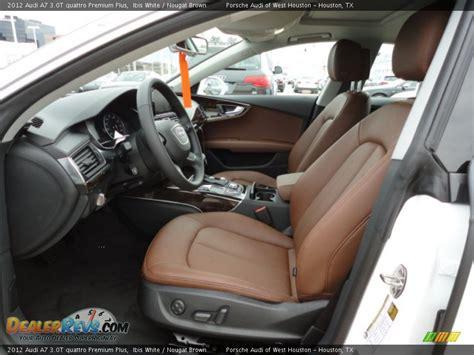 audi dealership interior nougat brown interior 2012 audi a7 3 0t quattro premium