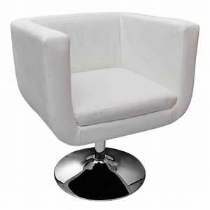 Fauteuil Design Blanc : la boutique en ligne fauteuil design club blanc x2 ~ Teatrodelosmanantiales.com Idées de Décoration