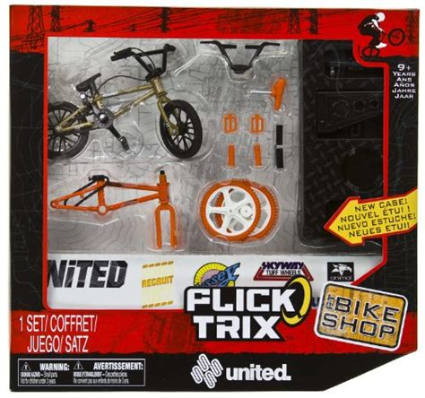 best price united flick trix 4 quot bmx finger bike shop set
